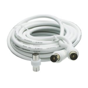 Image of Smartwares Aerial fly lead White 10 m