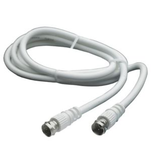 View Smartwares White Male/Male Satellite Flylead, (L)1.5m details