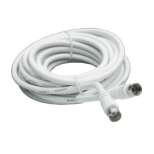 View Smartwares White Male/Male Satellite Flylead, (L)5m details