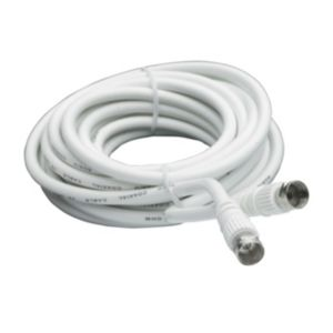 View Smartwares White Male/Male Satellite Flylead, (L)10m details