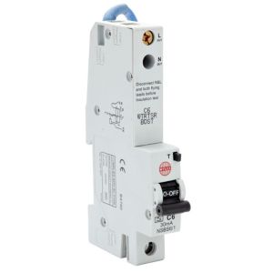 View Wylex 6A SP RCBO details