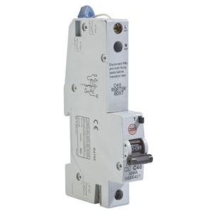 View Wylex 40A SP RCBO details