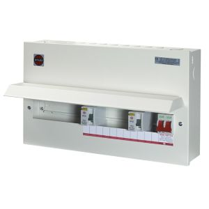 Image of Wylex 100A 15 way High integrity dual RCD Consumer unit