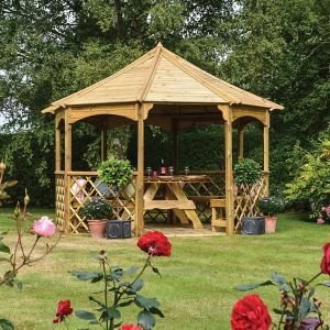 View Rowlinson Buckingham Wooden Gazebo - Assembly Required details