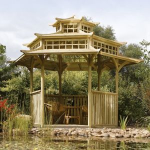 View Rowlinson Oriental Wooden Pagoda - Assembly Required details