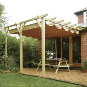 View Rowlinson Sienna Wooden Wall Mounted Canopy - Assembly Required details