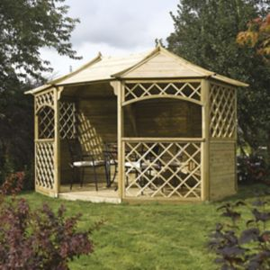 View Rowlinson Sandringham Wooden Gazebo - Assembly Required details