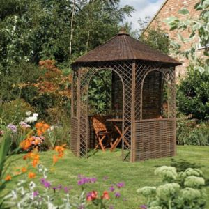 View Rowlinson Natural Willow Gazebo (H)2.65m (W)2.48m - with Assembly Service details