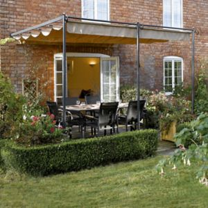 View Rowlinson St Tropez Metal Wall Mounted Canopy - with Assembly Service details