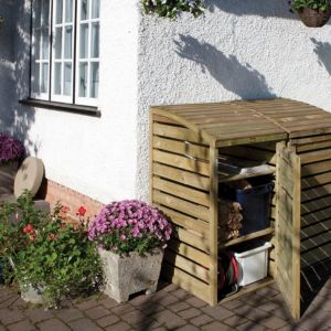 View 3X2 Pent Wooden Garden Storage Box details