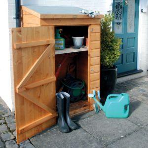Image of Mini Shiplap Pent Wooden Garden Storage Unit