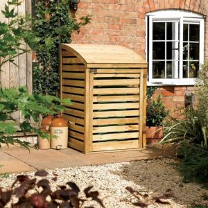 Image of 3X3 Pent Wooden Single Bin Store
