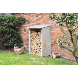 Image of Heritage Cladded Fine sawn Pent roof Wooden Log store
