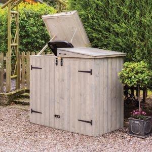 Image of Heritage Vertical cladding Fine sawn Wooden Wheelie bin store