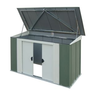 View Arrow Greenvale 6X3 Pent Roof Steel Shed - Assembly Required details