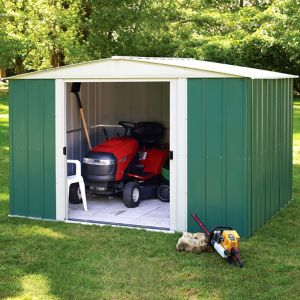 10X8 Greenvale Apex Metal Shed with Assembly Service
