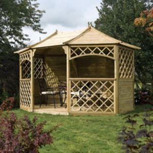 View Rowlinson Sandringham Wooden Gazebo - with Assembly Service details