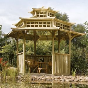 View Rowlinson Oriental Wooden Pagoda - with Assembly Service details