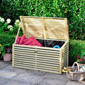 View 4X2 Wooden Garden Storage Box details