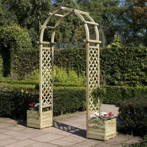 View Wooden Round Top Arch - Assembly Required details