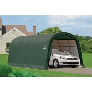 Image of 20x10 Shelterlogic Round top Tubular steel frame Auto Shelter