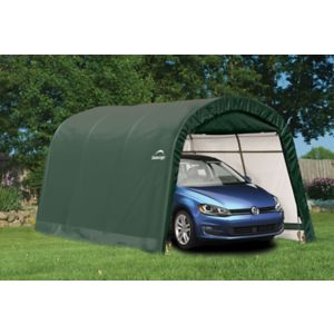 Image of 15x10 Shelterlogic Round top Tubular steel frame Auto Shelter