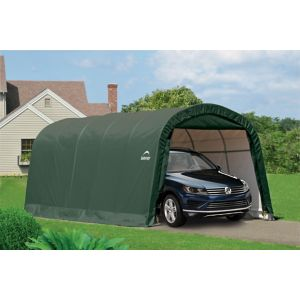 Image of 20x12 Shelterlogic Round top Tubular steel frame Auto Shelter