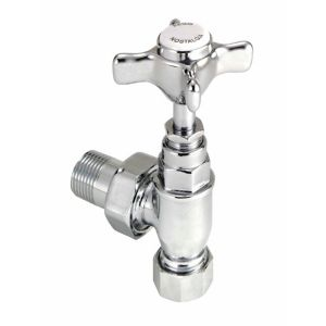 View Regis & Chrome Effect Angled Radiator Valve details