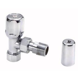 View Regis Angled Chrome Effect Radiator & Towel Rail Valve (Dia)15mm details