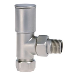 View Regis Angled Satin Effect Decorative Radiator Valve (Dia)15mm details
