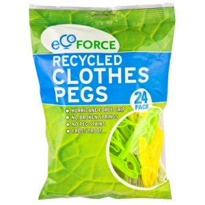 View Ecoforce Multicolour Clothes Pegs, Pack of 24 details