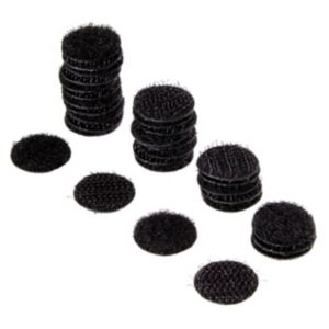 Image of Griptite Black Stick On Coin (Dia)16 mm Pack of 16