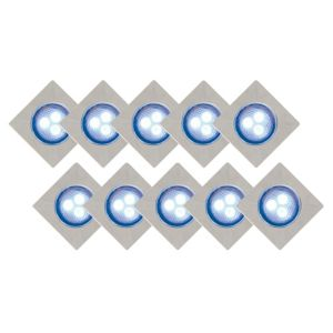 View B&Q Keso Blue LED Recessed Deck Lighting Kit, Pack of 10 details