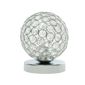 Image of Lopez Chrome Effect Table Lamp