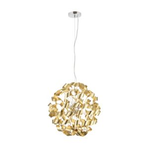 Image of Marcela Modern Gold Matt brushed 6 Lamp Ceiling light