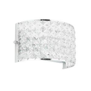 Image of Adela Glass Beads Chrome Effect Wall Light