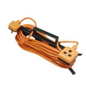 Masterplug 1 Socket 10 A External Extension Lead 15m Orange