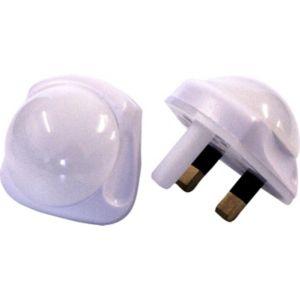 Image of Masterplug Aluminium & Rubber LED Nightlight Pack of 2