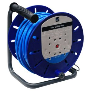 Image of Masterplug 4 Socket 13A Cable Reel (L)45m