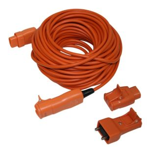 View Masterplug 1 Socket 10 A External 2 Pin Plug to 2 Pin Socket Extension Lead 20m Orange details