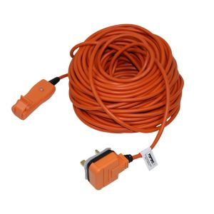 View Masterplug 1 Socket 10 A External 3 Pin Plug to 2 Pin Socket Extension Lead 30m Orange details