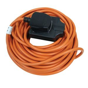 Masterplug 1 Socket 10 A External Extension Lead 10m Black