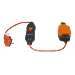 View Masterplug 1 Socket 13 A External RCD Adapter 0.5m Orange details