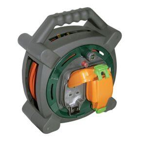 Image of Masterplug 2 Socket 13A Cable Reel (L)20m
