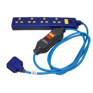Image of Masterplug 4 socket 13A Blue Extension lead 2m