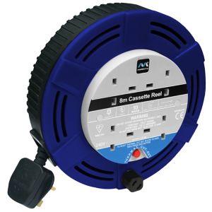 Image of Masterplug 4 socket Cable reel 8m