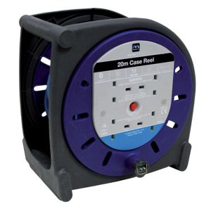 Image of Masterplug 4 socket Cable reel 20m