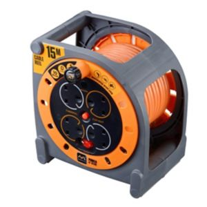 Image of Masterplug 4 socket Cable reel 15m