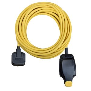 Image of Masterplug 1 socket 13A Yellow Extension lead 10m