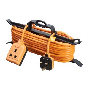Image of Masterplug 1 socket Orange Extension lead 15m